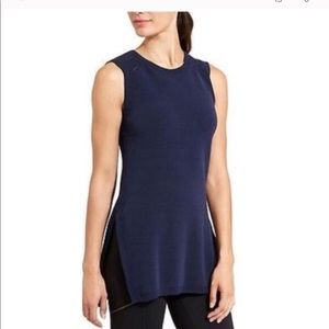 Athleta Long And Lean Navy Sweater Vest